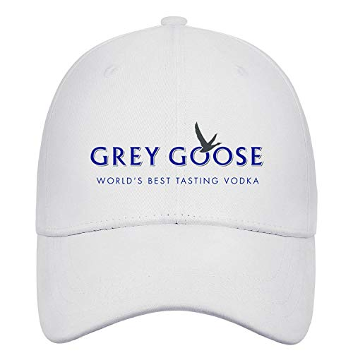 Unisex Stylish Baseball Cap Grey-Goose-World's-Best-Tasting-Vodka-Logo- Fitted Embroidered Cotton Trucker Cap