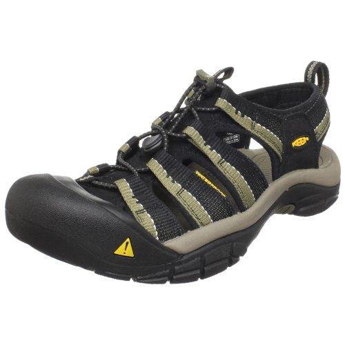 Keen Men's Newport H2 Sandal,Black/Stone Gray,13 M US