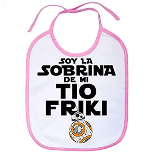 Babero Soy la sobrina de mi tío friki - Rosa
