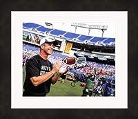 John Harbaugh Autographed Photo - 8x10 Super Bowl Coach) #SC5 Go Matted & Framed sticker edition - Autographed NFL Photos