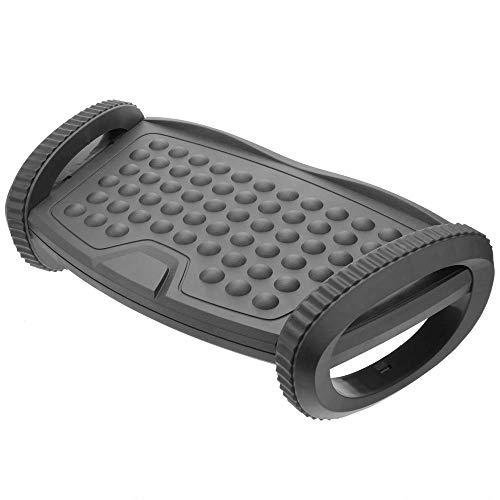 PrimeMatik - Reposapies con Plataforma Ajustable de plastico Negro 310 x 220 mm