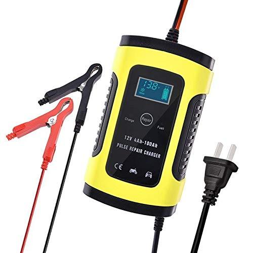 DFYYQ Batería de Coche Cargador de 110V a 12V 6A o 220V a 12V 6A Inteligente de Potencia rápido de Carga Seca mojada Plomo Ácido Digital Display LCD (Color : EU)