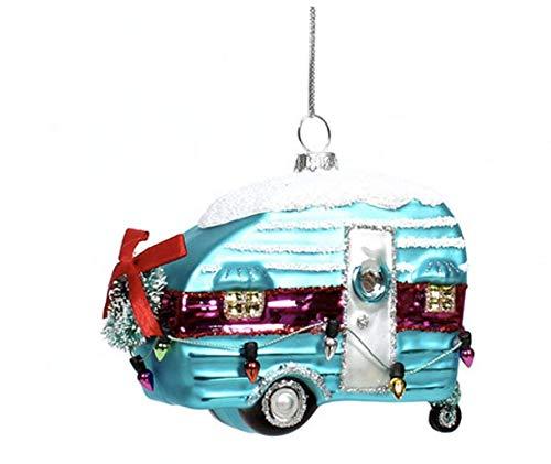Nikki's Knick Knacks Glass Retro Camper Christmas Ornament