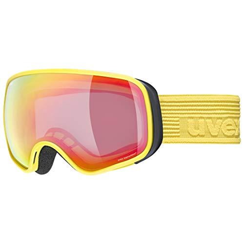 uvex scribble FM sph Gafas de esquí, Juventud unisex, yellow/rainbow-clear, one size