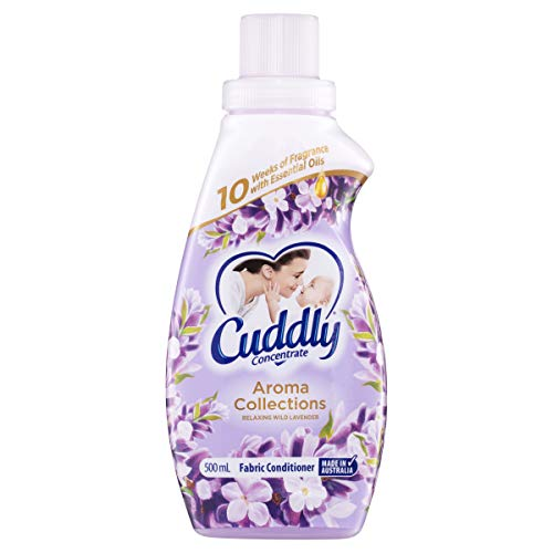 Cuddly Concentrate Liquid Fabric Softener Conditioner Aroma Collections Relaxing Wild Lavender 500mL, 20 Washes, Made in Australia, 10 Weeks of Fragrance, Luxurious Softness, Easy Iron