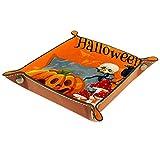 Cabecera Bandeja de cuero 16x16CM,otoño halloween calabazas linterna cuervo seta