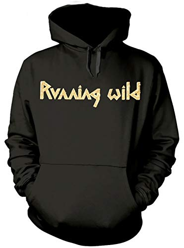 Running Wild 'Under Jolly Roger Album' (Black) Pull Over Hoodie