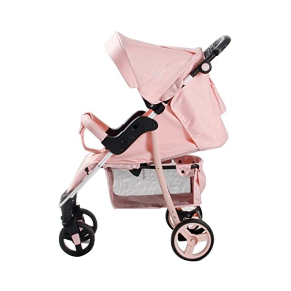 My Babiie MB30 Billie Faiers Pink Stripe Stroller - Includes Raincover babieswithlove Compact Fold Includes Raincover Lockable swivel front wheels 2