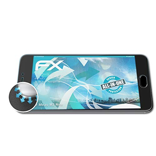 atFolix Schutzfolie kompatibel mit Meizu M3 Note Folie, ultraklare & Flexible FX Bildschirmschutzfolie (3X)