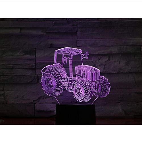 Sfeerverlichting, tractor, 3D-lamp, visueel lichteffect, werkt op batterijen, decoratief voor tafel, USB, LED-nachtlampje, lampje, kleurrijk met afstandsbediening