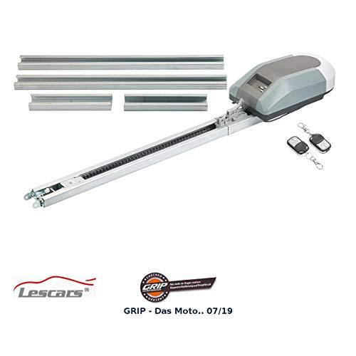 Lescars Garagetorantrieb: Garagentorantrieb für 12-m²-Tore, 800 N, Abschaltautomatik & 2 Sender (Garagenantrieb)