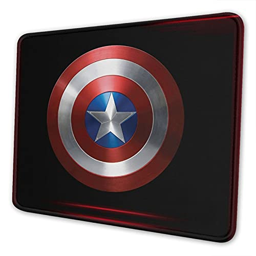 Gaming Mouse Pad, Computer Mouse Pad, Comfortable Mouse Pad, Non-Slip Rubber Base Mousepad for All Types Mouse (Captain-America)