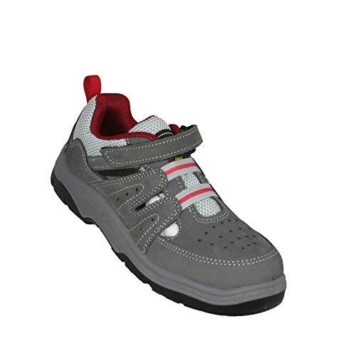 Lupos ESD Elektrikerschuhe S1 Sicherheitsschuhe Arbeitsschuhe Trekkingschuhe Sandale Grau B-Ware, Größe:39 EU