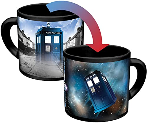 Doctor Who Disappearing TARDIS Coffee Mug - Add Hot Liquid and Watch The TARDIS Move From London to the Stars - Comes in a Fun Gift Box