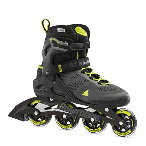 Rollerblade Macroblade 80, Pattini in Linea. Unisex Adulto, Nero/Lime, 43