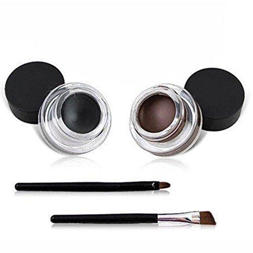 VONISA Waterproof Delineador de Ojos en Gel Eyeliner Brocha Para Maquillaje Y...