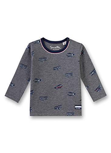 Sanetta Baby-Jungen T-Shirt, Grau (Dark Grey Mel. 1720), 56 (Herstellergröße: 056)