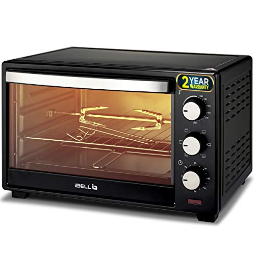 iBELL Premium 25 Litre 1600 Watt Electric Oven Toaster Grill with Rotisserie,(Black)