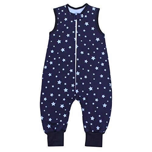 TupTam Baby Unisex Winter Schlafsack mit Beinen, Farbe: Sterne Blau/Dunkelblau, Größe: 92-98