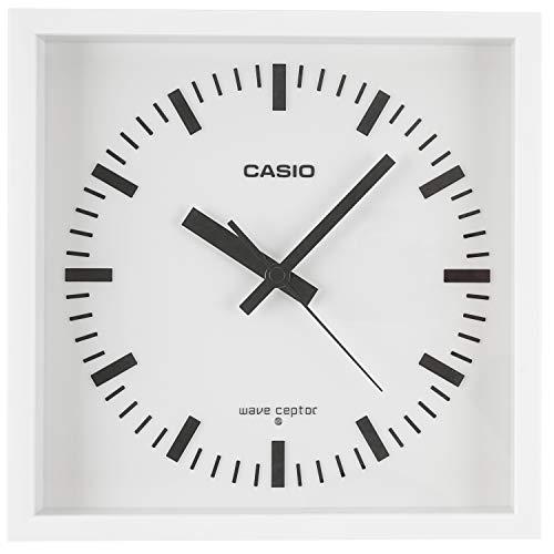 CASIO(カシオ) 掛け時計 電波 ホワイト 直径25.5cm アナログ 夜間秒針停止 置き掛け兼用 IQ-810J-7JF