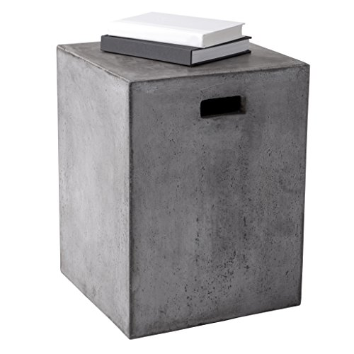 Sunpan Modern Castor End Table, Anthracite Grey
