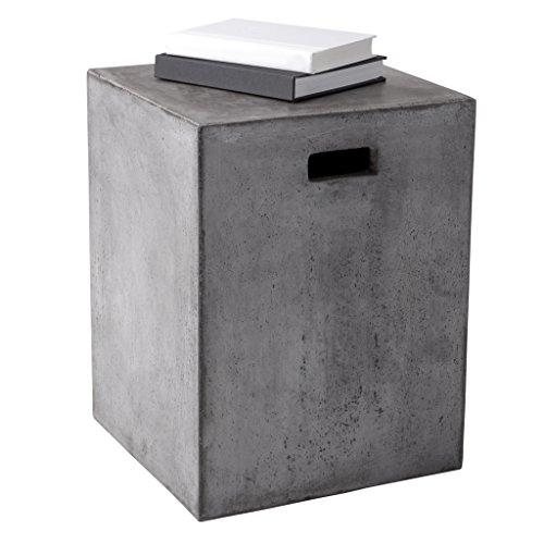 Sunpan Modern Castor End Table, Anthracite Grey