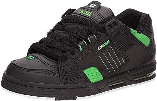 Globe Sabre Zapatillas para Skateboard - Black/Moto Green - US 9
