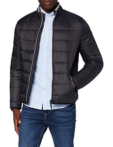 BRAX Herren Style Cole Outdoor Long Season M Fake Daune Jacke, Black, Large (Herstellergröße: 52)