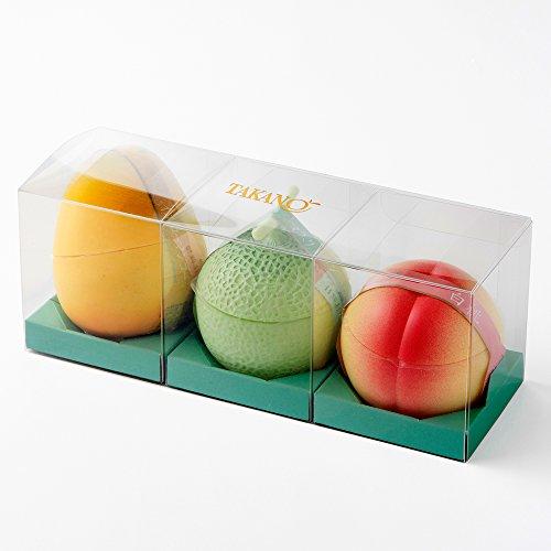 新宿高野 果実ピュアゼリー 3入 ( マスクメロン / 白桃 / イエローマンゴー 各1個 ) フルーツゼリー お祝い ギフト 贈答品