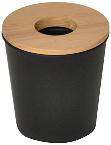 Opportunity 26b1512050170Ebonite Mini Abfalleimer Kunststoff/Holz Schwarz 13x 13x 14cm
