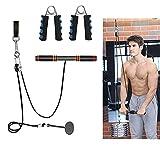 N/H Poleas Gimnasio para Casa, AolKee Sistema de Cuerda de Equipo de Gimnasio en Casa Musculacion para Bíceps, Tríceps, Antebrazo, Entrenador de Resistencia de Rodillos Equipo Accesorios Gimnasio