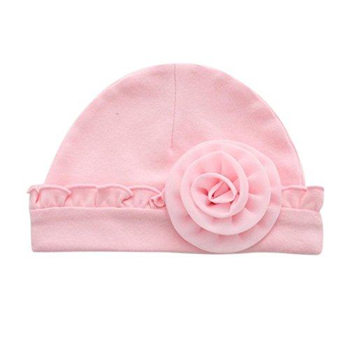 Bebe Fille / Garcon Naissance Bonnet Contton Chaud Hiver (Rose)