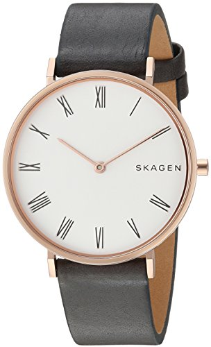 Skagen Damen Analog Quarz Uhr mit Leder Armband SKW2674