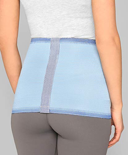 ®BeFit24 Nierenwärmer für Herren und Damen - Rückenwärmer - Wärmegürtel - Nierenschutz - Nierengurt Wärme [ Size 6 - Himmelblau ]