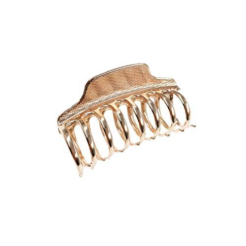 Minkissy große Metallhaarkrallenclips Haarspange Kieferklemme Frauen halbes Brötchen Haarnadeln Roségold