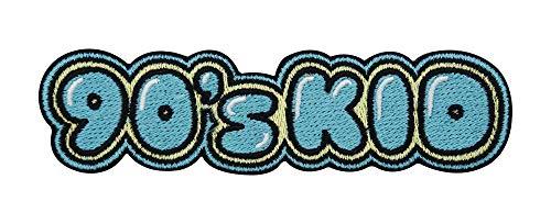 Finally Home 90's Kid Retro Vintage Patch zum Aufbügeln | Old School Neunziger Patches, 90er Jahre Bügelflicken, Erwachsene Flicken, Aufnäher für Jeansjacken und andere Kleidung