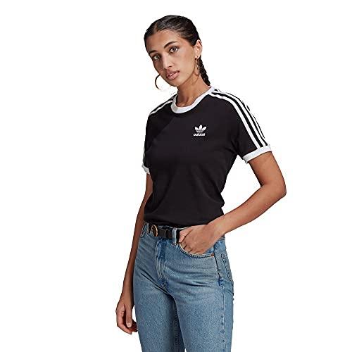 adidas GN2900 3 Stripes Tee T-Shirt Womens Black 36