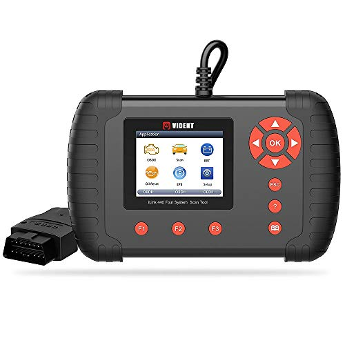 """VIDENT iLink440 Auto OBDII/OBD2 Four System Diagnostic Scan Tool Support Engine ABS Air Bag SRS EPB Reset Battery Configuration,2.8"""" LCD Color Display Code Reader"""