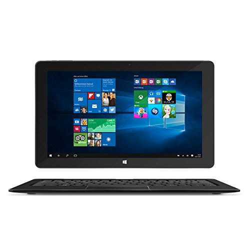 TrekStor SurfTab Duo W2 29,5 cm (11.6 Zoll) WiFi, 2in1 (Intel Core M-5Y10c, 4GB RAM, 64GB SSD, Intel HD Graphics 5300, Windows 10, Touchscreen, schwarz)