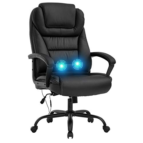 Big and Tall 500lbs Wide Seat Ergonomic Desk Chair with Lumbar Support Arms...