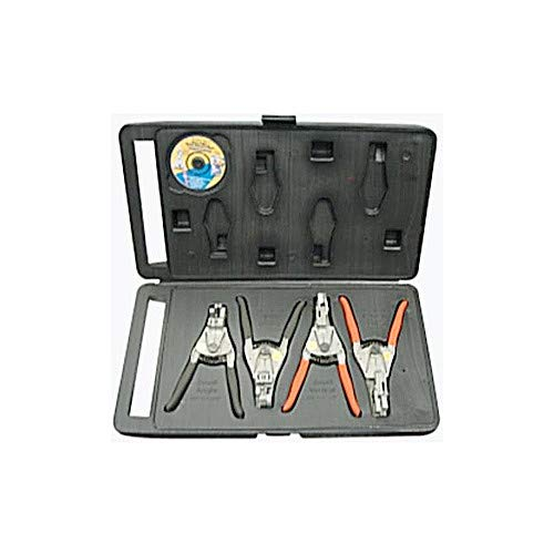 Direct Source Int. QRP4S-P 4-Piece Quick Release Pliers Set with Case
