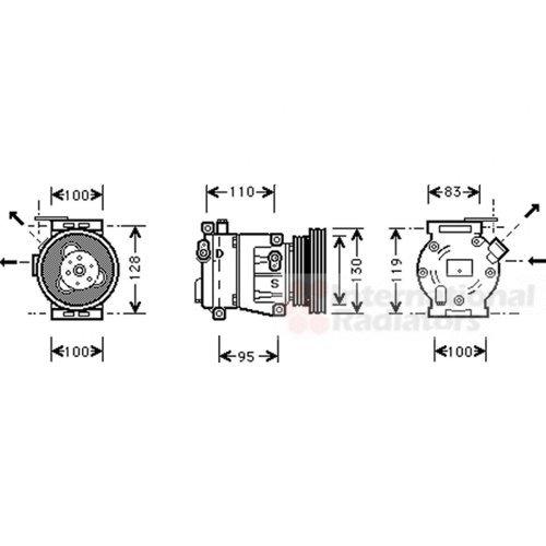 Van Wezel 1700K035 Sistemas de Aire Acondicionado