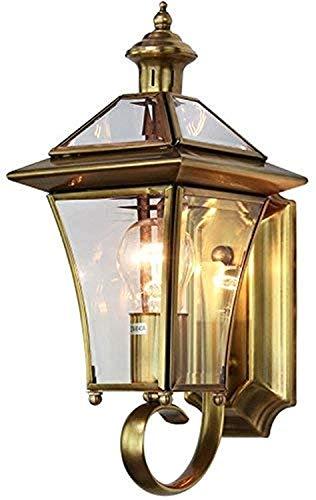 LAMTON Luz de Pared al Aire Libre Bronce Luz de Pared al Aire Libre Luz de la Vendimia para la casa Exterior Porche Partio, Bronce