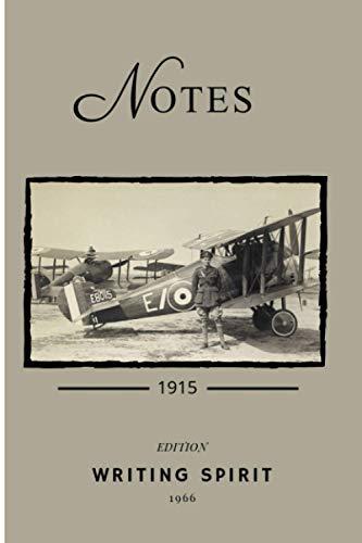 Carnet de notes : avion biplan 1915: Cahier de notes sur papier crème couverture aviation – notebook – journal de bord - 100 pages lignées - format A5 – idée cadeau.