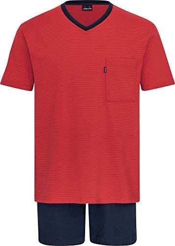 Herren Schlafanzug kurz Rot 54