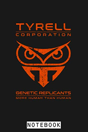Tyrell Corporation - Fictional Brand Blade Runner Notebook: Journal, Planner, Diary, 6x9 120 Pages, Matte Finish Cover, Lined College Ruled Paper