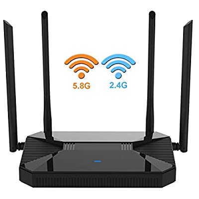 ?Newest 2019? Wireless WiFi Router High Speed Gaming Router Up to AC1200Mbps with Dual Band 2.4GHz and 5GHz Ideal for Home Office & HD Video Streaming Works Great with Any Devices