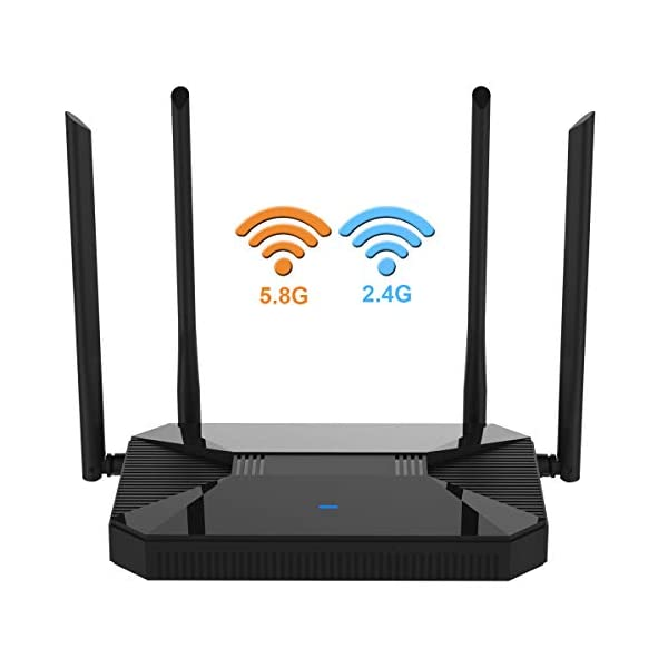 【Newest 2020】 Wireless WiFi Router High Speed Gaming Router Up to AC1200Mbps...