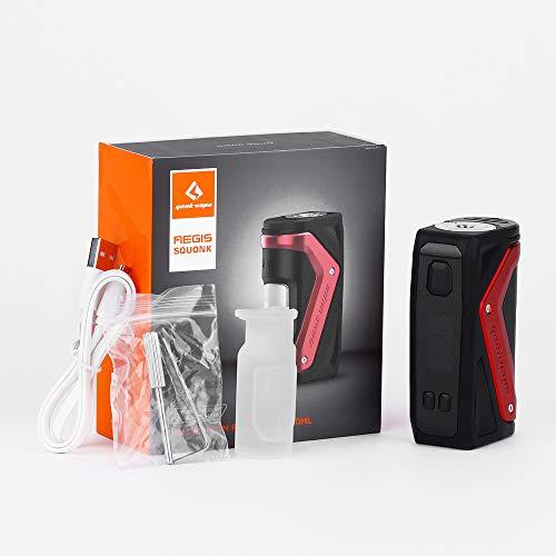 GeekVape Aegis Squonker 100W TC MOD E-cig Mod with 2.4 inch OLED Display Waterproof/Dustproof/Shockproof No e Liquid, No Nicotine (Red)