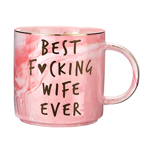 Hendson Wife Gifts For Birthday | Marble Ceramic Coffee Mug Cup | Anniversary, Christmas, Valentines, Mothers Day Gift Ideas For Her